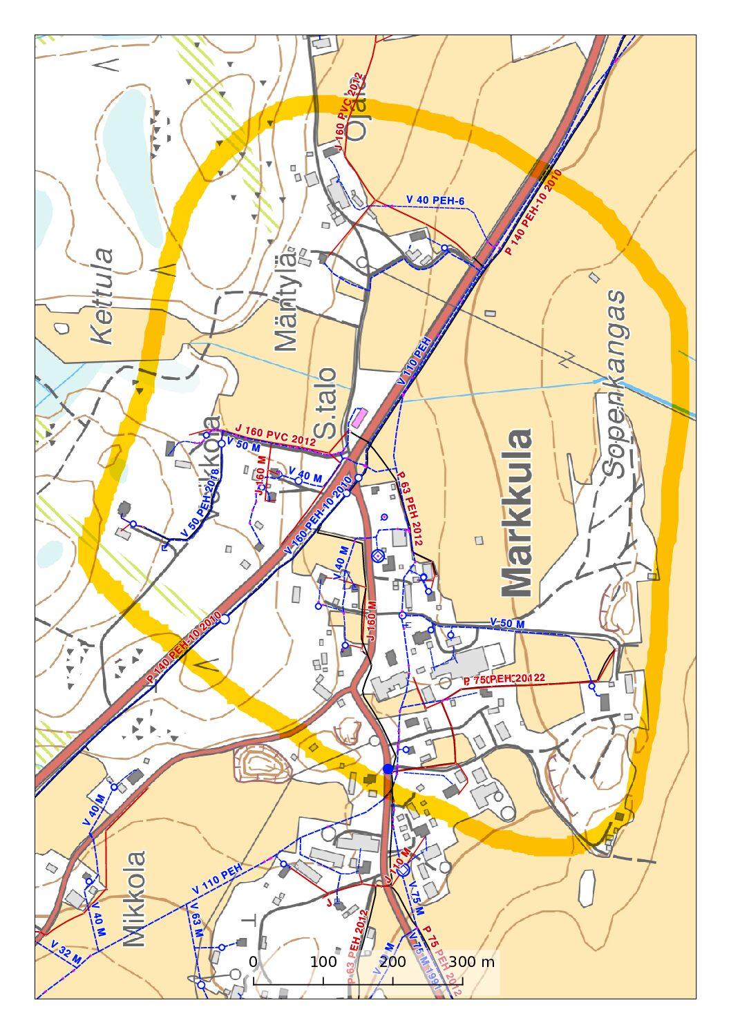 Vesikatko Markkulassa tiistaina 5.1.2021